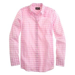 J Crew Boyfriend Gingham Button Down Shirt 18